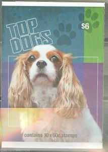 AUSTRALIA DOG CHARLES SPANIEL BOOKLET  OF TEN STAMPS MINT NH  AS SHOWN