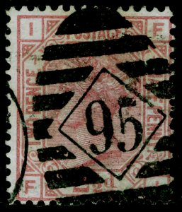 SG139, 2½d rosy mauve plate 1, USED. Cat £120. WMK ANCHOR. FI