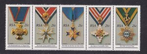 South Africa   #797-801a  MNH  1990  National decorations strip of 5
