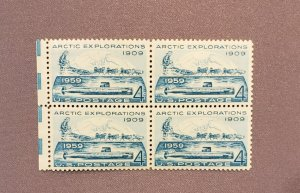 1128, Artic, Block of 4 with selvage, Mint OGNH