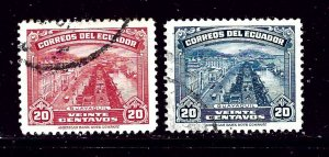 Ecuador 408 and 408A Used 1924 issues