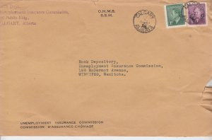 3c + 1c - G Overprinted post postes 1952 OHMS Canada cover