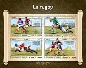 DJIBUTI - 2018 - Rugby - Perf 4v Sheet - MNH