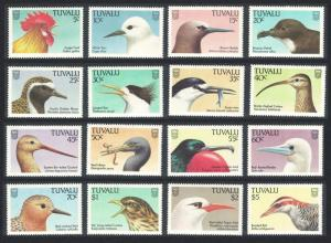 Tuvalu Birds 16v 1988 MNH SG#502-517 SC#469-484