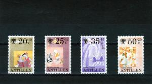 Netherlands Antilles 1979 IYC Cat set (4) Perforated Mint (NH)