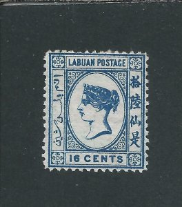 LABUAN 1879 10c BLUE MM SG 4 CAT £70