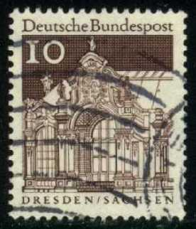 Germany #937 Wall Pavilion, used (0.25)