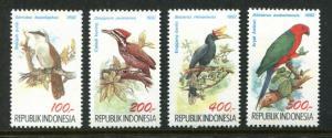 Indonesia 36-39, MNH, 1968 Birds,  x31789
