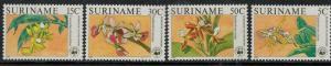 Surinam 1986 SC 743-746 Orchids MNH Set SCV $50.00