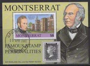 MONTSERRAT SGMS1184 2001 FAMOUS STAMP PERSONALITIES FINE USED