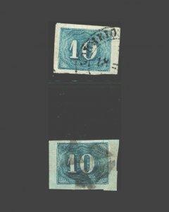 VINTAGE: BRAZIL 1854 USD LH HR SCOTT# 19 $ 57.60 LOT #  BR1925