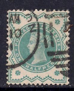GB 1900 QV 1/2d Bluish green colour change SG 213 ( D59 )