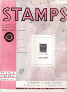 Stamps Weekly Magazine of Philately June 17, 1933 Stamp Collecting Magazine