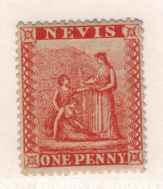 Nevis Stamp Scott #9, Mint Hinged - Free U.S. Shipping, Free Worldwide Shippi...