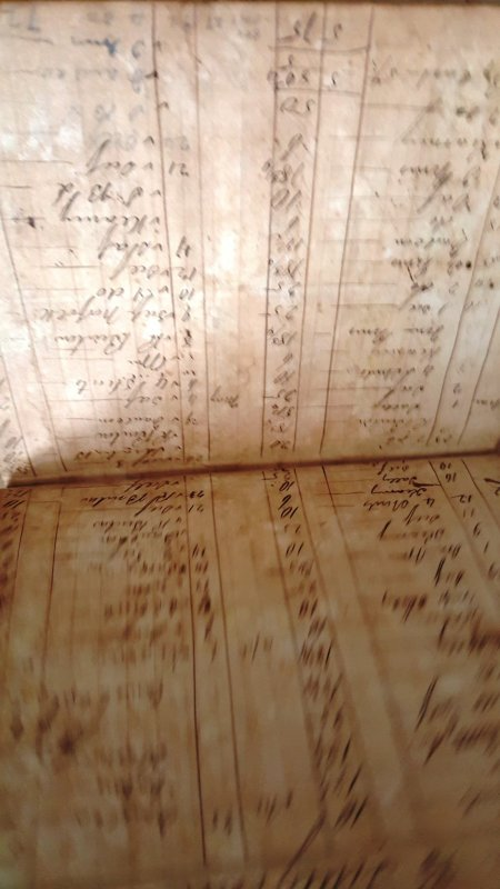 1828 OXFORD, NC POSTMASTER'S RECORDS BOOK WITH 1828 12 1/2C RATE FOLDED LETTER