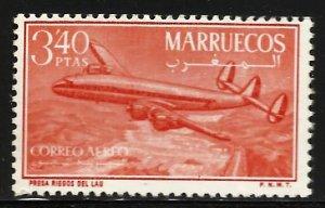 Morocco Northern Zone Air Mail 1956 Scott# C3 MH (gum disturbance)