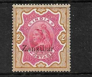 ZANZIBAR  1895-96  2r  QV  MLH  SG19