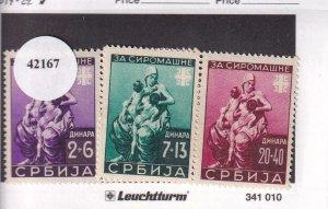 Serbia: German Occupation: Sc 2N019-2N022, MH (42167)