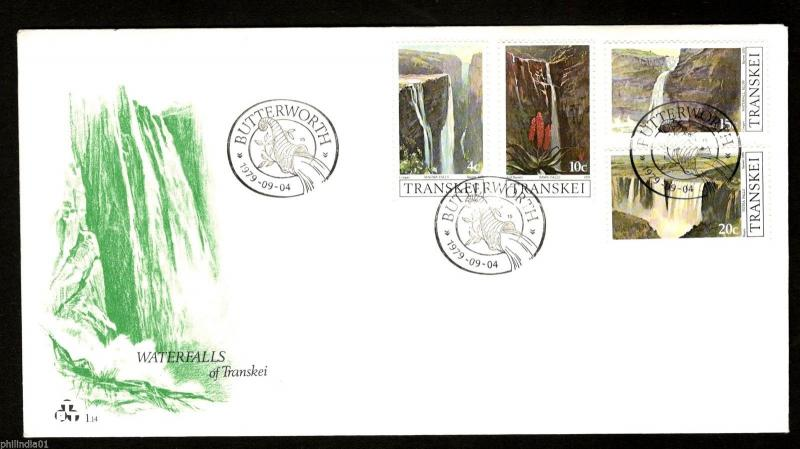Transkei 1979 Waterfalls Environment Nature Sc 62-66 FDC # 16120