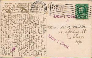 United States Maine Skowhegan, Maine 1925 American Flag Type A14 with violet ...