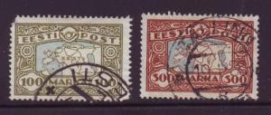 Estonia Sc 78-9 1923-4 Map stamp set  used