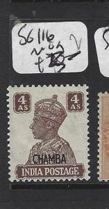 INDIA  CHAMBA   (PP2408B)   KGVI 4A  SG 116   MOG