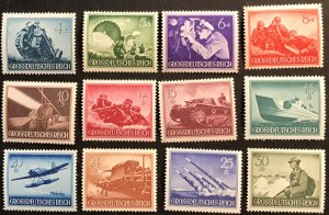 Germany B258-269 MNH Military, SCV $16.30