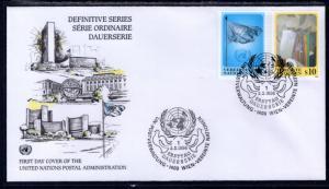UN Vienna 194-195 UN Postal Admin U/A FDC