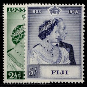 FIJI GVI SG270-271, ROYAL SILVER WEDDING set, M MINT. Cat £14.