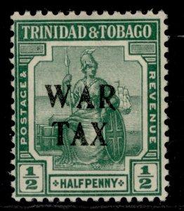 TRINIDAD & TOBAGO GV SG177, ½d green, M MINT.