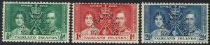 FALKLAND ISLANDS 1937 KGVI CORONATION SPECIMEN SET