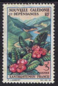 New Caledonia   1964 flowers     3f     #