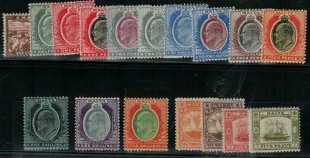 Malta 1904-1911 SC 28-45 Mint SCV $383.00 Set