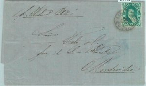 85970 - ARGENTINA - POSTAL HISTORY - Early COVER to MONTEVIDEO Uruguay 1874