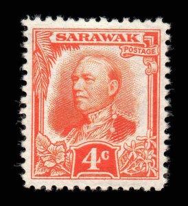 Sarawak 1932 KGV 4c red-orange SG 94 mint