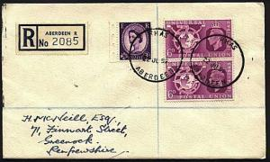 GB SCOTLAND 1959 Registered cover Aberdeen Royal Highland Show skeleton....93058