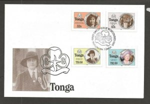 1985 Tonga Girl Guides 75th anniversary Type 'B'  FDC
