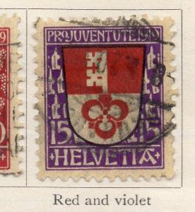 Switzerland 1918-19 Early Issue Fine Used 15c. 267083