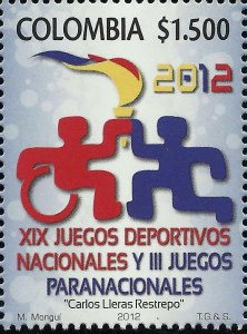 COLOMBIA XIX NATIONAL SPORTS GAMES and III GAMES PARANACIONALES Sc 1381 MNH 2012