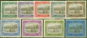 St Kitts & Nevis 1923 Tercentenary set of 9 to 2s SG48-56 Fine Lightly Mtd Mint