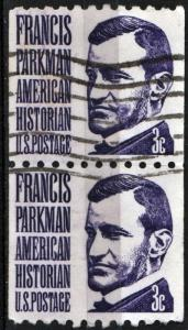 SC#1297 3¢ Francis Parkman Coil Pair (1975) Used