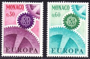 Monaco Scott 669-670  complete set  F to VF mint OG NH.