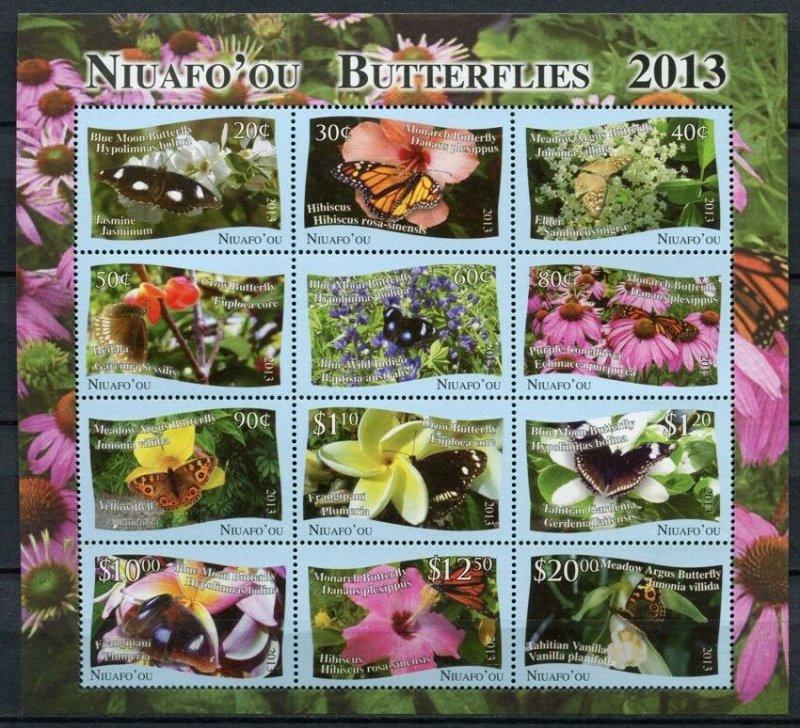 2013 Niuafo'ou 527-532KL Butterflies 55,00 €