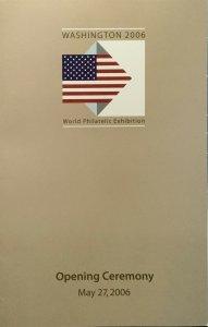 Ceremony Program Washington 06 World Philatelic Exposition Wonders of America