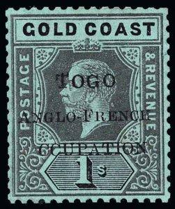 Togo Scott 72 Variety 3 Gibbons 41f Mint Stamp