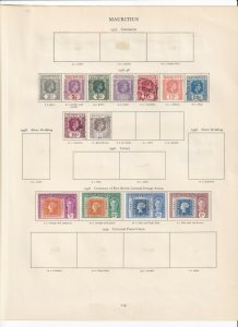 MAURITIUS GEORGE 6TH CROWN ALBUM  PAGES  , MINT/USED