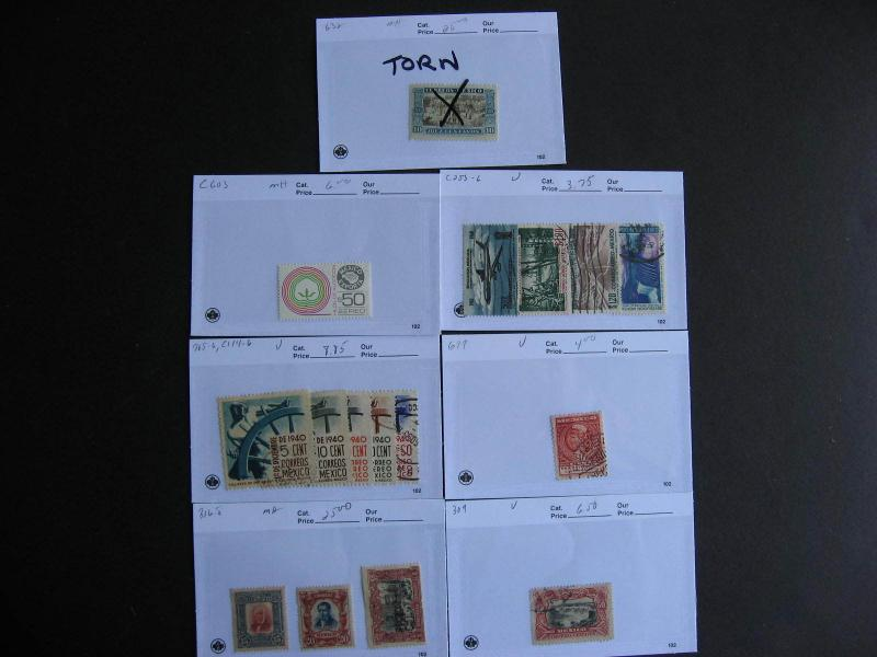 MEXICO better on sales cards, unverified, mixed condition, check them out