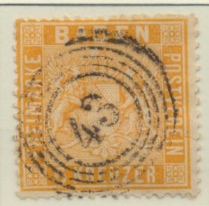 Baden (German State) Stamp Scott #13, Used - Free U.S. Shipping, Free Worldwi...