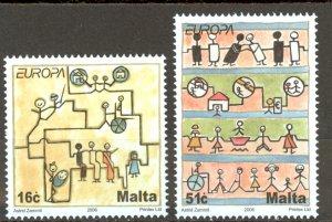Malta Sc# 1244-1245 MNH 2006 Europa