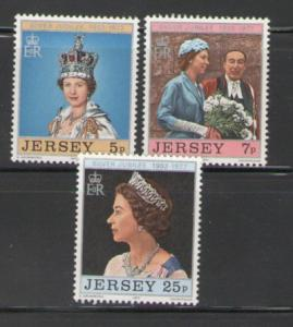 Jersey Sc 168-0 1977 25 yrs QE II stamps mint NH
